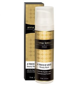 a touch of gold beauty mask